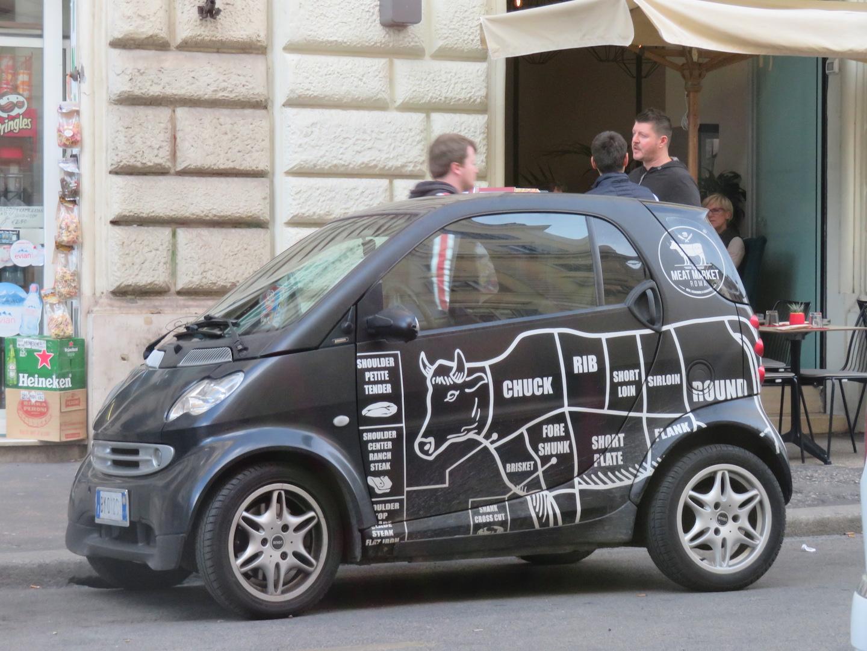 Rome, Italy cow car