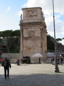 Arch of Constantine, erected 315 to celebrate the victory at Milvian Bridge
