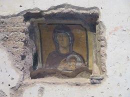 Fresco at Santa Maria Antiqua. Built in the 5th century. In the Roman Forum