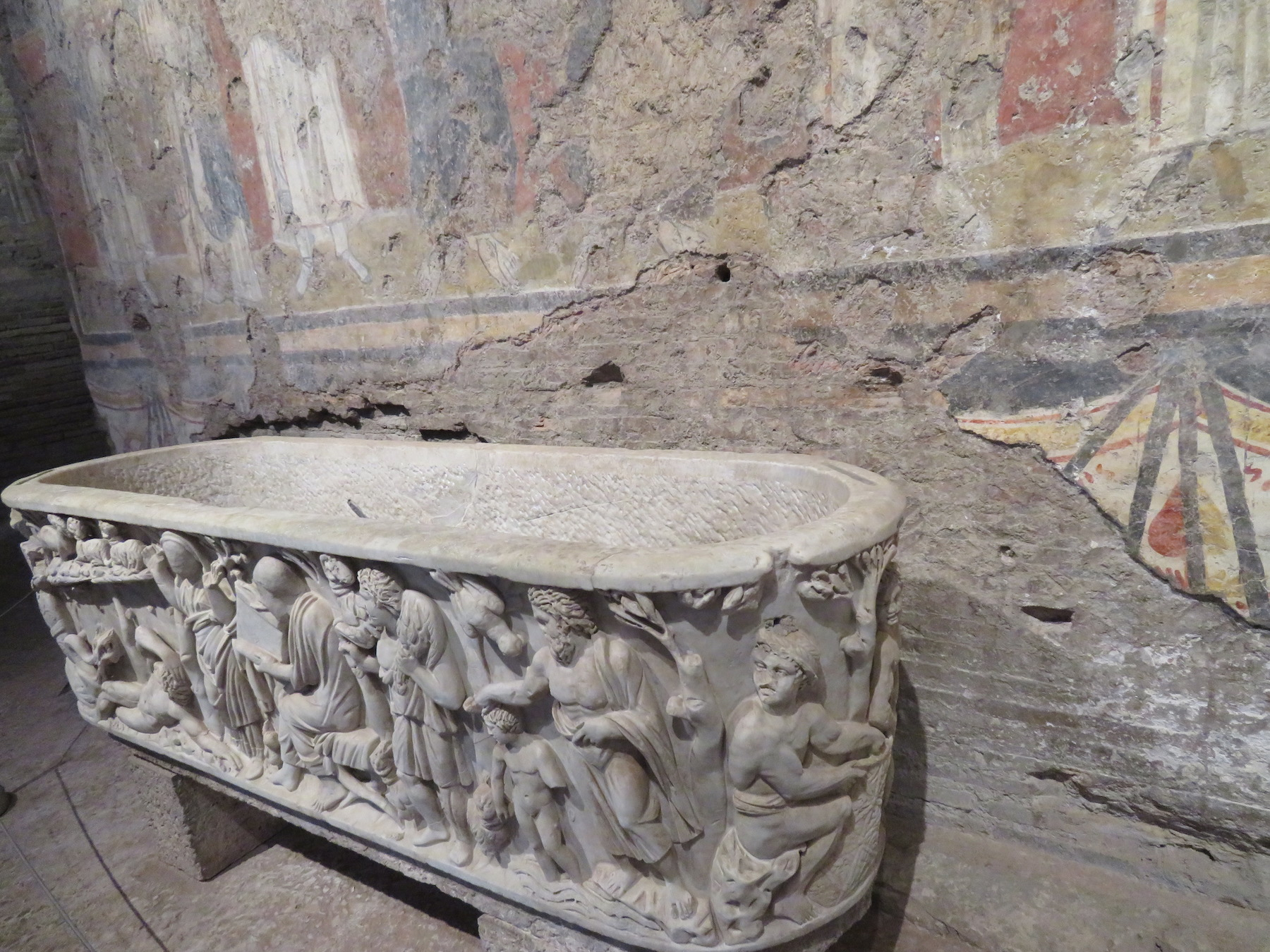 Sarcophagus at Santa Maria Antiqua Church
