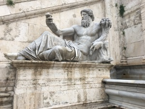 Nile river god statue at Capitoline Hill in Rome, Italy. Capitoline Hill and the Temple of Jupiter were built around 509.