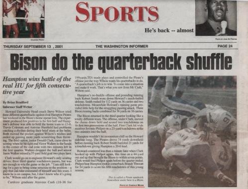 Washington Informer, September 13, 2001